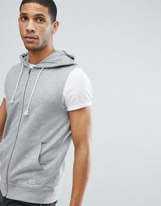 Read more about Jack jones originals sleeveless hoodie - light grey melange