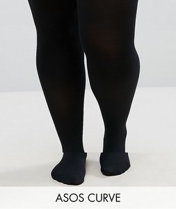 Read more about Asos curve 2 pack 120 denier tights - black