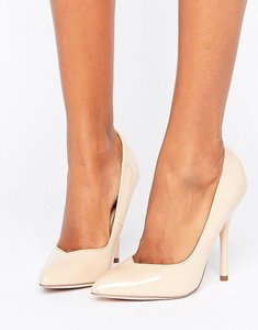 Read more about Paper dolls pointed nude stiletto court shoe - nude