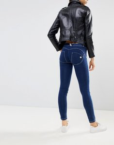 Read more about Freddy wr up mid rise shaping effect push in skinny jean with rips - mid blue