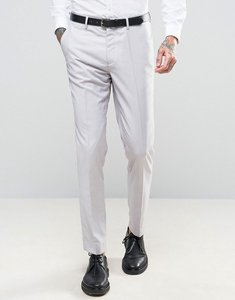 Read more about Devils advocate wedding skinny fit pale grey suit trousers - grey