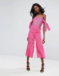 Read more about Asos embellished cold shoulder jumpsuit - pink