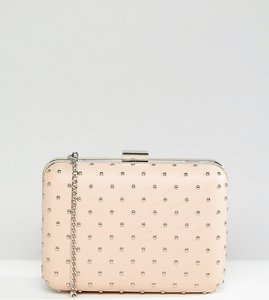 Read more about True decadence box clutch bag with studding - nude