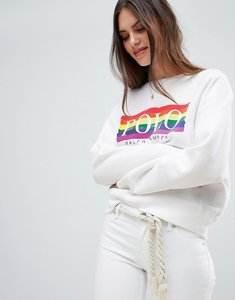 Read more about Polo ralph lauren rainbow logo sweatshirt - white