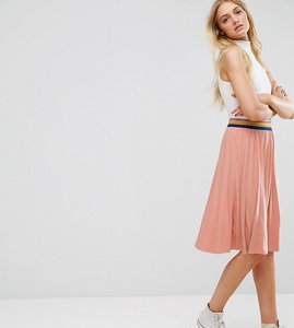 Read more about Noisy may tall bob sporty pleated midi skirt - pink