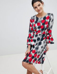 Read more about Closet spotty fluted sleeve dress - multi