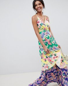 Read more about Asos design tiered printed maxi dress - multi