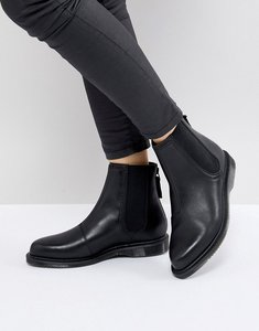 Read more about Dr martens zillow refine chelsea boot in black leather - black temperley