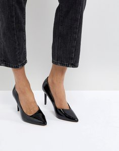 Read more about Stradivarius patent court shoe - black