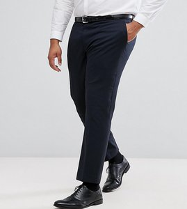 Read more about Harry brown plus plain stretch slim suit trousers - navy