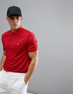 Read more about Lyle scott golf kinloch microstripe tech polo shirt in red - pavillion red