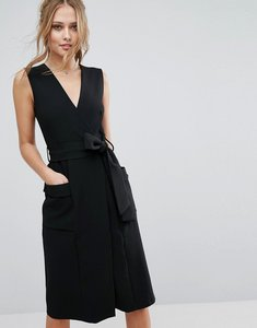 Read more about Closet v front midi dress with pockets - black