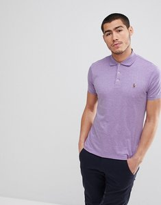 Read more about Polo ralph lauren slim fit pima jersey polo multi player in lilac marl - purple heather