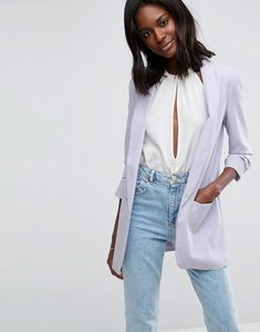 Read more about Asos rouched sleeve blazer - lilac