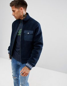 Read more about Original penguin borg bomber jacket in navy - dark sapphire