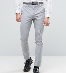Read more about Selected homme super skinny suit trousers in pale grey - grey