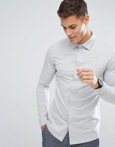 Read more about Selected homme slim fit jersey shirt - egret