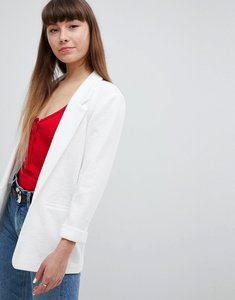 Read more about New look textured ponte blazer - white