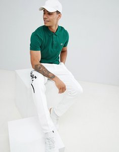 Read more about Lacoste slim fit pique polo in green - 132
