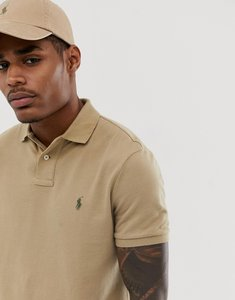 Read more about Polo ralph lauren player logo pique polo slim fit in beige