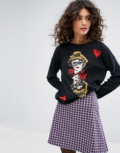 Read more about Sonia by sonia rykiel face intarsia knit jumper - multi