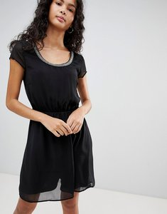 Read more about Only nete dafne dress with beaded neck trim - black