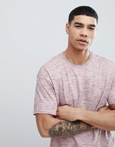 Read more about Bershka oversized flecked t-shirt in pink - pink