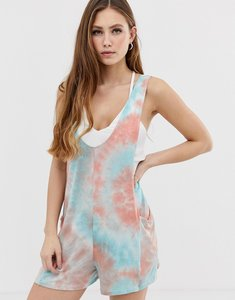 Read more about Kiss the sky tie dye festival playsuit - blue orange