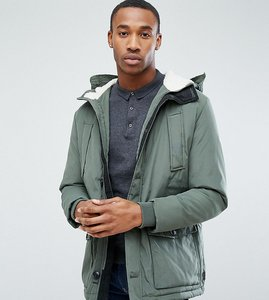 Read more about Jack jones originals parka with borg lined hood - thyme