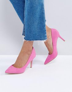 Read more about New look suedette court shoe - pink