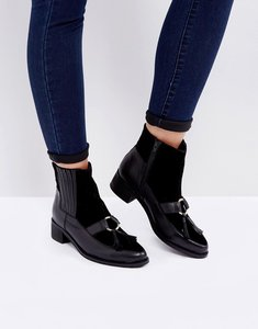 Read more about Park lane leather hardware tassel chelsea boots - black