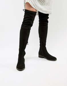 1b230ab78eb11 asos kilo suede flat over the knee boots red - Shop asos kilo suede ...