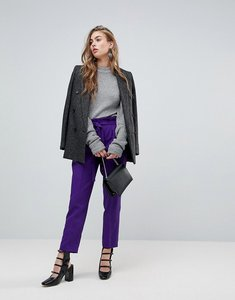 Read more about Miss selfridge paperbag trouser - purple exclusive