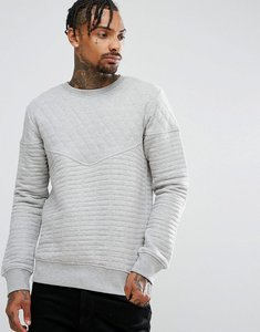 Read more about Another influence quilted crew neck sweat - grey