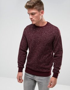 Read more about Threadbare space dye quilted crew neck sweat - red