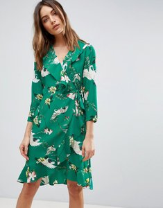 Read more about Y a s printed frill dress - multi