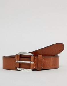 Read more about Boss jago leather belt in tan - 210