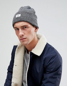 Read more about Esprit beanie in navy marl with badge - 400 navy
