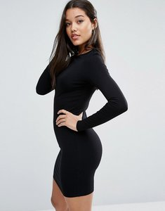 Read more about Asos mini long sleeve bodycon dress - black