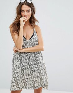 Read more about Amuse society tile print strappy beach dress - shell pink multi