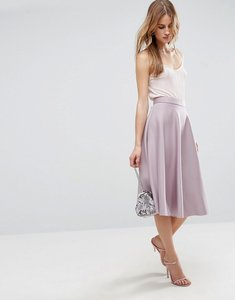 Read more about Asos high waisted full circle scuba prom skirt - lilac