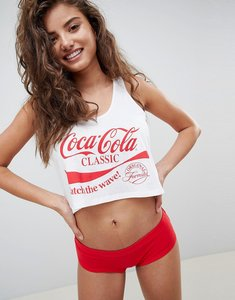 Read more about Asos design coca cola tank pant pyjama set - multi