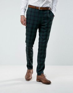 Read more about Harry brown skinny fit tartan suit trousers - green