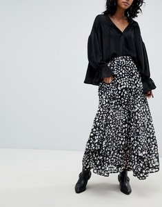 Read more about Religion maxi skirt in animal print - black