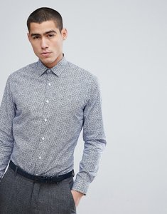 Read more about French connection mini floral slim fit shirt - blue