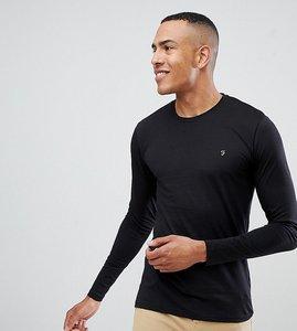 Read more about Farah farris slim fit logo long sleeve t-shirt in black - black