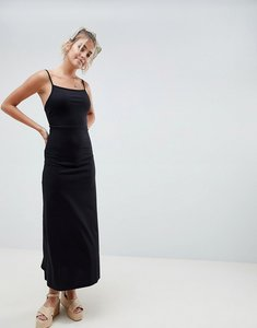 Read more about Asos design maxi square neck sundress - black