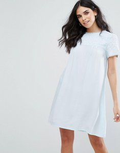 Read more about Little white lies fleur smock dress - blue
