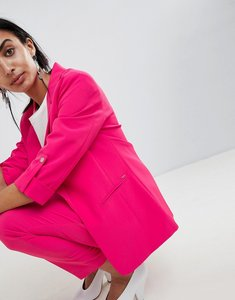 Read more about B young longline suit blazer - fuschia