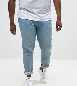 Read more about Asos plus skinny jeans in light wash - light wash blue